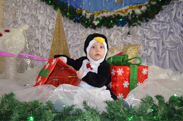 Продаю карнавальный костюм пингвина для мальчиков 68-92