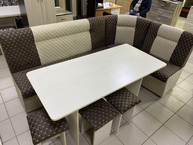 Кухонный уголок Новый с доставкой стол диван табуретки Астана Нурсулт
