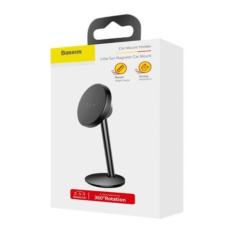 Suport Auto Magnetic Baseus Little Sun Pentru Telefon - Negru SUTY-01