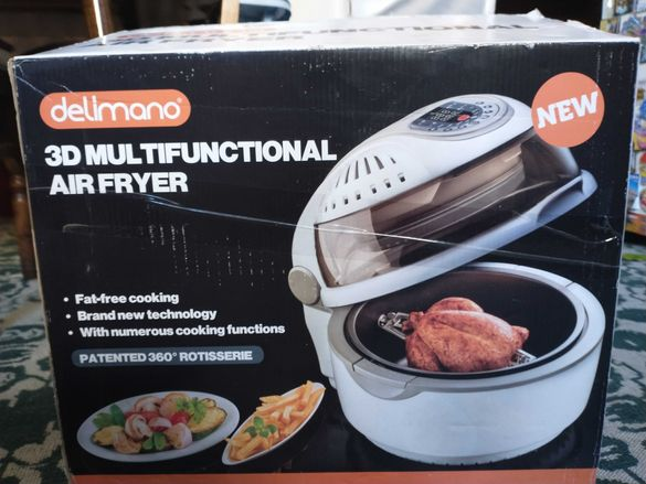 Делимано Мултикукър Еър фраер / Delimano 3D Multifunctional Air Fryer