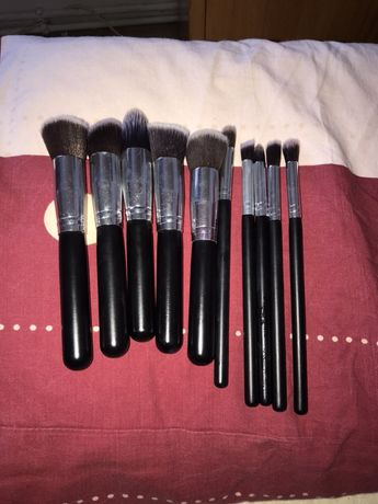 Pensule profesionale de machiaj Make up 10 buc