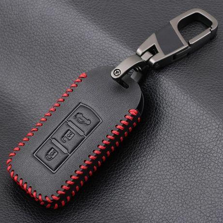 Кожен калъф за ключ Mitsubishi Outlander,Lancer,Pajero Sport L200,ASX