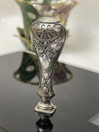 Sigiliu din argint. Sec XIX (masonic, regal, Lion, con de brad)