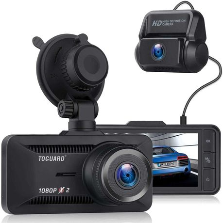 TOGUARD Dual Dash Cam, 1080P Front and Rear Dash