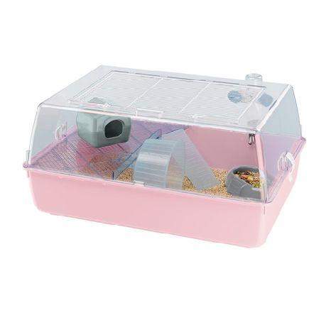 Розова Клетка за хамстер оборудвана 55Х39Х27 MINI DUNA HAMSTER