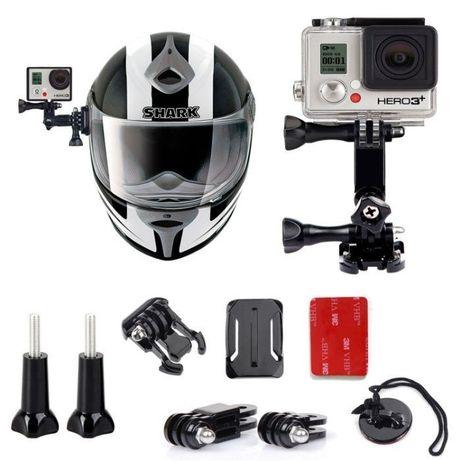 Комплект за каска uni helmet kit за екшън камери gopro и др | hdcam.bg