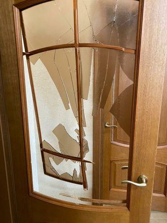 ремонт межкомнатных дверей и окон замена стекла, замка и фурнитуры