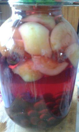 Компот вишнёво-яблочный  3 литра-