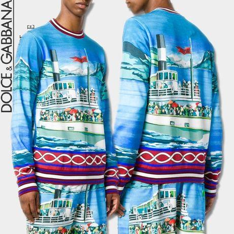 D&G Dolce and Gabbana Lake Como Boat Мъжка Блуза Пуловер size 52 (L)