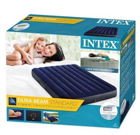 Надувной матрас для сна односпальный 99х191х25 см (синий-зелёный)