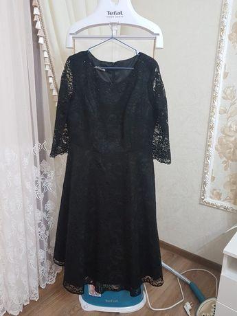 Чёрное платье, материал кружева, Турция, размер 48-50, XL