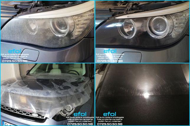 Folii auto solare geamuri, polish faruri, folie protectie