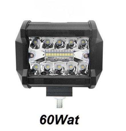 ХАЛОГЕН -LED BAR- 60 W (1бр.) 9.5 см. Кола Бус Камион Трактор Лодка