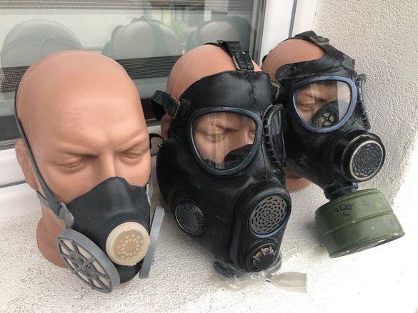 Предпазни средства противогаз маска. Цената за маска 8лв, цена за пр