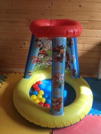 Детский Надувной игровой сухой бассейн открытая палатка шарики щенячий