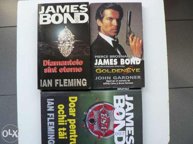 Lot de 3 carti JAMES BOND,agentul 007,stare foarte buna