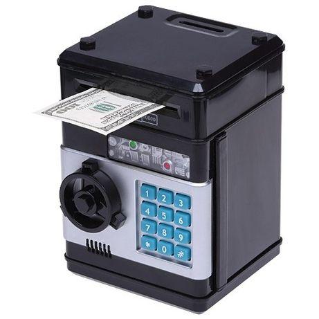 Копилка сейф, Игрушки электронная с кодовым замком и купюр приемником