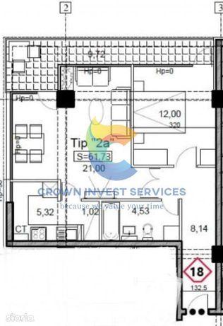 Apartament 2 camere, decomandat, Et.1, parcare inclusa, Iulius Mall