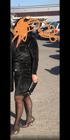 Rochie de catifea cu sclipici