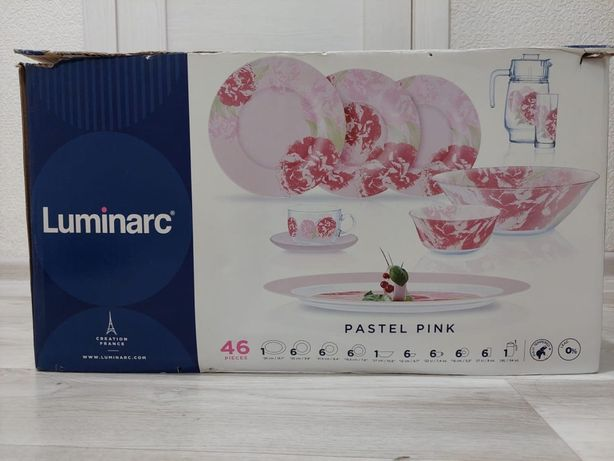 Красивый сервис набор посуды Luminarc