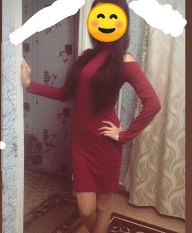 Продам бордовое платье