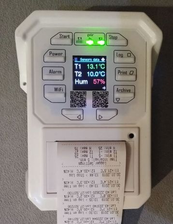 Термограф за хладилен камион/бус. Вграден принтер, WiFi, GPS