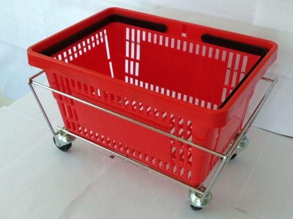 Пазарска кошница 22 литра с две дръжки/ различни цветове/.