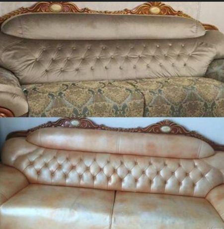 Реставрация и перетяжка мягкой мебели!