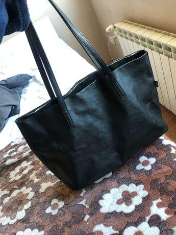 Чанта тип торба -кожена