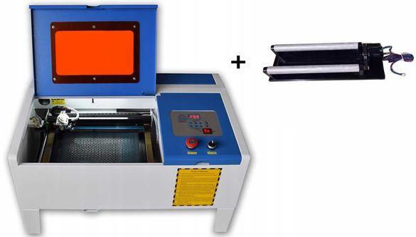 CO2 Лазер 40W за Гравиране и Рязане 35x24cm +AirAssist+Red Point +Прис