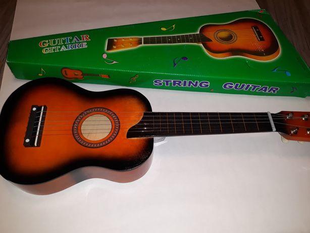 Chitara pentru copii clasica din lemn lacuit 58cm maro