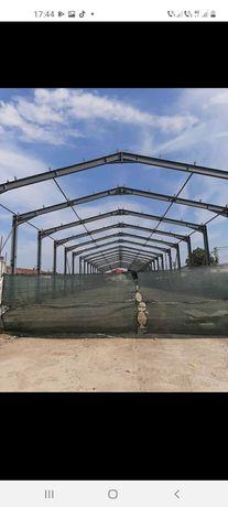 Fundalul metalică 13 m deschidere cu 41 lungime din profil ipe