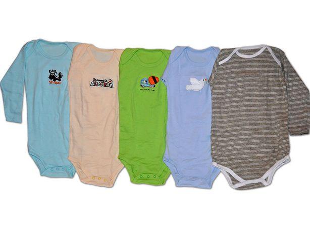 Body cu maneca lunga crem pentru copii 12 luni
