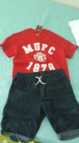 Manchester United оригинална чисто нова тениска и къси панталони H&M