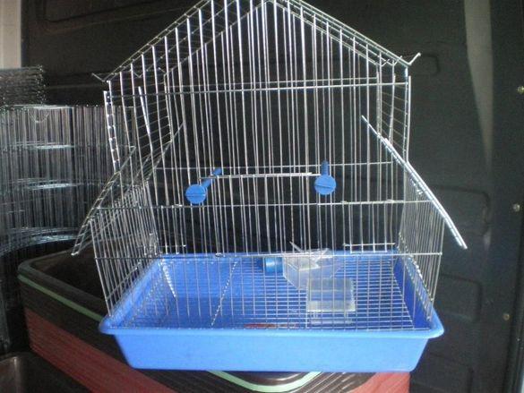 Клетка за птици средна L тип къщичка за 1 или няколко папагали