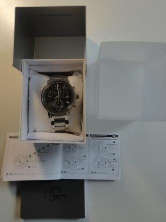 Мужские швейцарские наручные часы Calvin Klein с хронографом