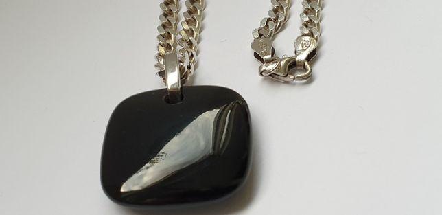 Necklace cu pandant onyx si Argint 925