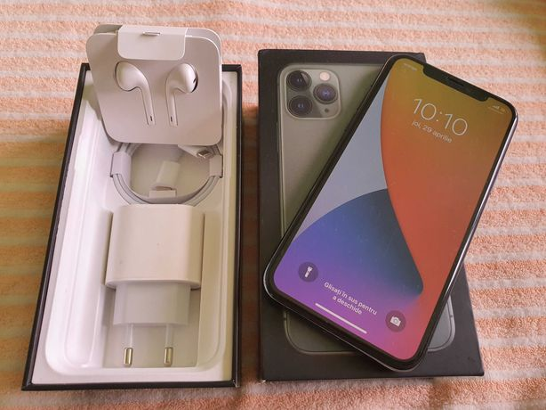 Iphone 11 Pro 256gb Mid Green Full-box impecabil Neverlock folie/husa