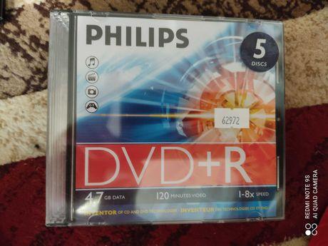 Продам DVD-R диски в боксах, новые, фирменные (PHILIPS)