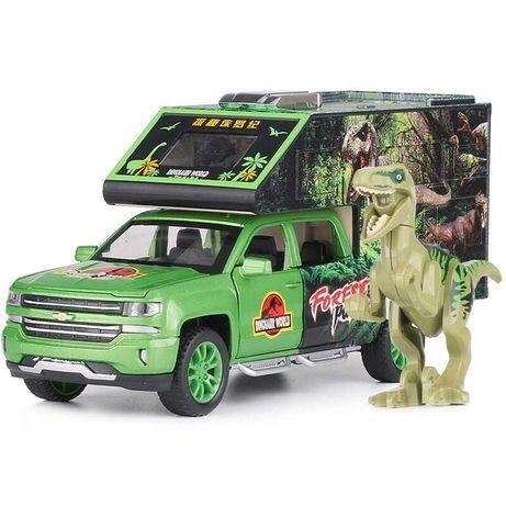 Машинка с динозавром Шевроле Сильверадо Дом на колесах. Jurassic World