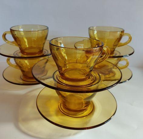 чаши с чинийки Vitrosax Bormioli Italy - комплекти