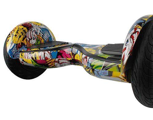Scooter electric 10 inch, boxe, bluetooth, lumini pe aripi, Graffiti