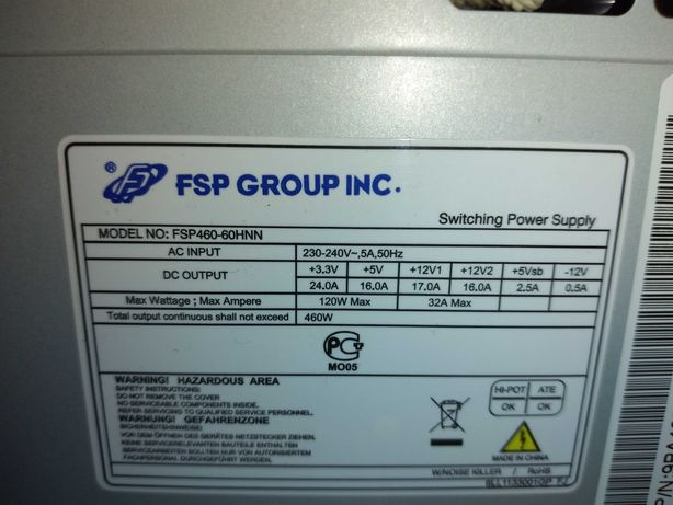 Продам бок питания на ПК 460w