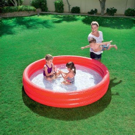 РАСПРОДАЖА!Детский надувной бассейн Play 183 х 33 см, BESTWAY 480 литр