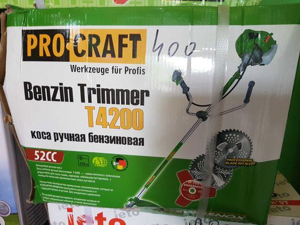Motocoasa Pro craft T4200  6.0 cp , Rusesc ..