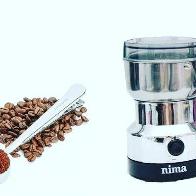 Электрический Кофемолка Nima. Измельчитель кухонный.  Мини комбайн