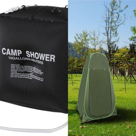 cort dus cort cabina pop up dus solar 40 litri pachet cort dus camping