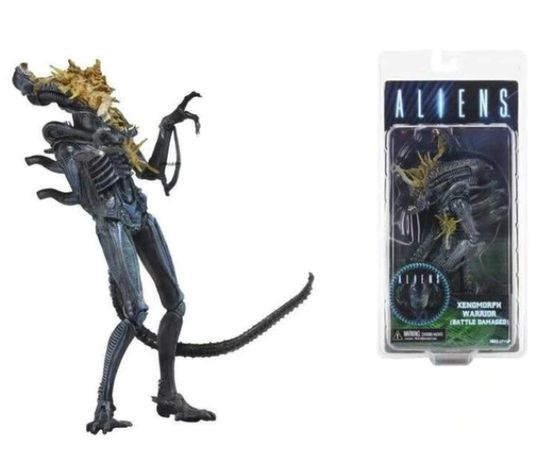 Figurina Alien Xenomorph 18 cm NECA battle damage head