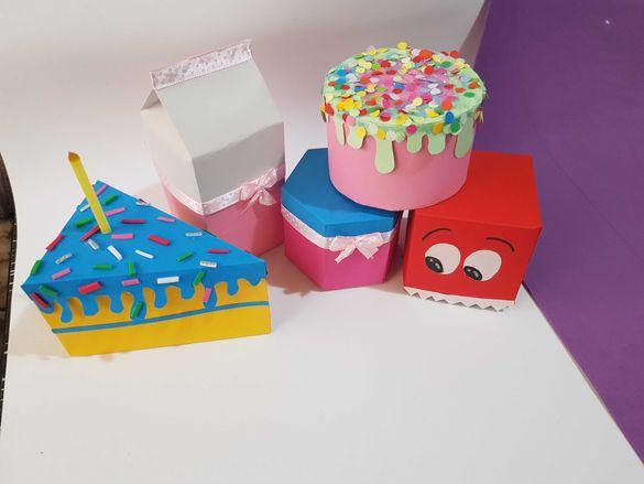 Картонена торта, Детски торти. Кутийки за подарък и лакомства
