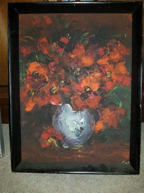 Vază cu flori roșii-Constantin